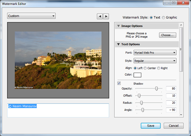 Mrvica Photography » How to Watermark a Photo in Lightroom 3